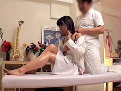 Hidden camera shows hardcore fucking in a massage parlour