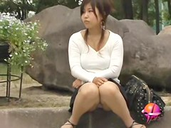 Japanese sharking video displaying cute white panties