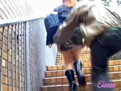 Fine Japanese ass shown in a smutty sharking video