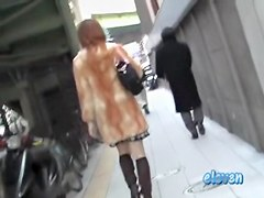 Skirt sharking video showing a graceful Japanese girl
