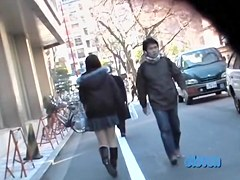Public sharking video shows a delicious Japanese chick
