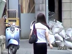 Street sharking fun with a gorgeous Japanese cutie