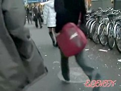 Nice Japan sharking action with surprised sweetie and horny fella