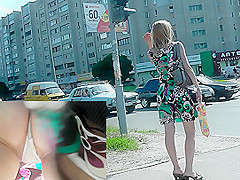 Upskirt camera caught a pair of delicious buttocks