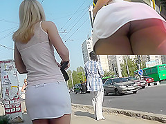MILF upskirt action filmed by experienced voyeur