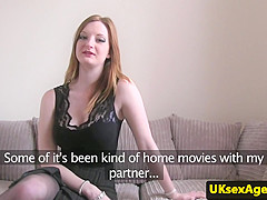 Ginger brit pussyfucked before facial