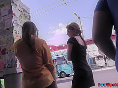 Upskirts in public gives chance to enjoy intimate view