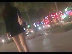 walk behind short skirt girl :1 (China)
