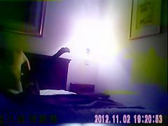 Black prostitute fucks client in hotel (hidden cam)