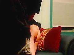 Amateur spanking on hidden cam