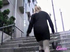 Light-haired Japanese skank gets unexpected present during sharking attack
