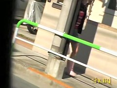 Sharking scene of phenomenal Japanese chick and some fast lad