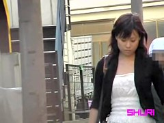 Perky Asian cutie falls for extremely wild top sharking action