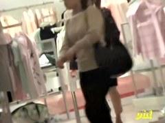 Shop sharking action with some slender Japanese little princess