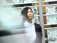 Pretty Japanese minx getting quickly pulled into hot sharking affair