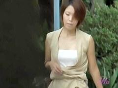 Skirt sharking affair with pretty vixen being left only in her underwear