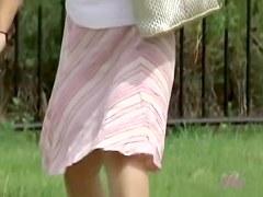 Curvy little Japanese slag loses her skirt during instant sharking odyssey