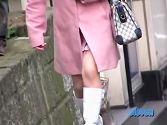 Perfect tempting Japanese chick gets nicely fooled by some sharking bloke