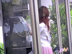 Pay phone sharking adventure with some really lustful young Asian hottie