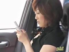 Pretty dark-haired oriental broad is having very wicked sharking encounter