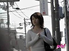 Soft elegant Japanese whore is having sharking encounter with random lad