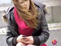 Cool Japan sharking action with surprised sweetie and horny guy
