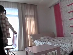 Asian tempting bimbo gets caught on spy cam during really intense action