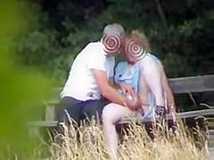 amateur sex on park bench