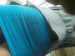 boso office girl tight dress skirt wide open