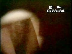 voyeur spy hole hairy pussy naked & white panty