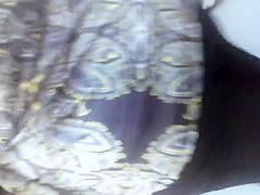 black dress kinda see thru black thong