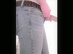 Hidden cam of teens ass after bathroom