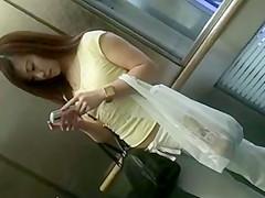CUTE ASIAN GIRL IN WHITE SWEATPANTS THONG