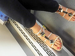 NICE FEET IN TRAIN