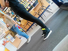 Gorgeous teen at pharmacy part 2