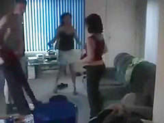 Busted by wife while fucking ex-wife