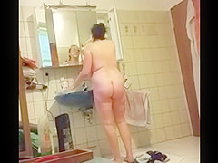 Saggy Tits MILF Bathroom