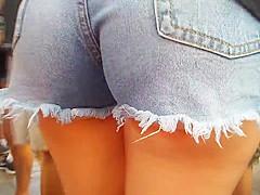 A good ass in shorts