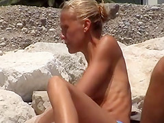 beach girl 005 incredible two french  topless tiny topless