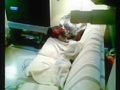 couple making love on sofa