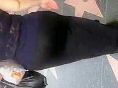 Super fat booty BBW in see thru
