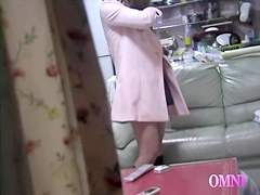 Japanese twat gets drilled with sex toy in adult voyeur film