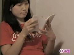 Free voyeur movie with asian brunette fingering her wet bun
