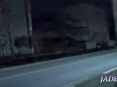 Girl in pink dress fucks her hot tunnel of love in spy video