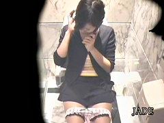 Awesome girl caught masturbating in hot Japanese sex video