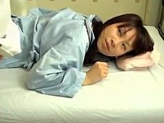 Cute Japanese banged hard in hardcore massage voyeur video