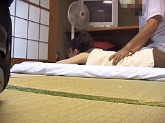Irresistible Japanese bimbo fucked in voyeur massage video