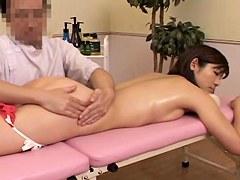 Sweet Japanese gets fucked in erotic massage voyeur video