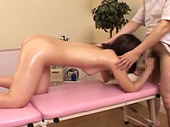 Sweet Japanese gets fucked in erotic massage voyeur video