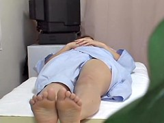 Hidden cam massage video of hot Japanese fingered silly